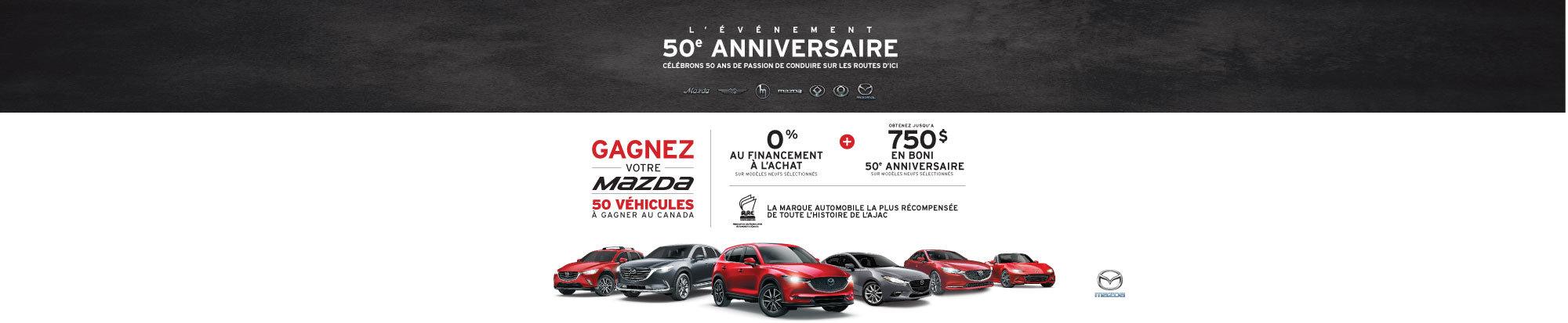 L'événement 50e anniversaire Mazda est en cours! web