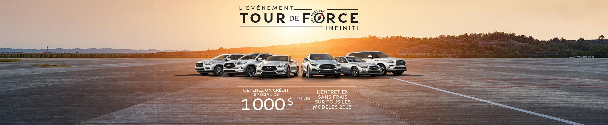 L'événement TOUR DE FORCE d'Infiniti Sherbrooke est en cours! web