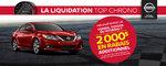 La liquidation top chrono de Nissan