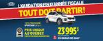 Liquidation fin d'année: Le Kia Sportage 2017