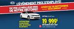 Événement prix employé: Kia Optima LX 2016