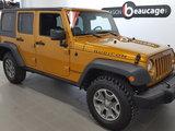 Jeep Wrangler Unlimited 2014 Rubicon cuir, navigation, toit souple/dur, hitch