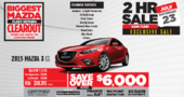 2 Hour Sale! July 23, 9am-11am Save over $6000