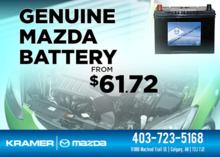 A Genuine Mazda Battery for Only $61.72 from Kramer Mazda