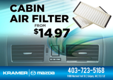 Change Your Cabin Air Filter for Just $14.97! from Kramer Mazda