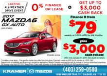 Get the 2017 Mazda6 GX at Kramer Mazda! from Kramer Mazda