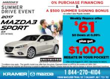Get the 2017 Mazda3 Sport GX Today! from Kramer Mazda
