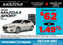Get the 2018 Mazda3 Sport GX Today! from Kramer Mazda