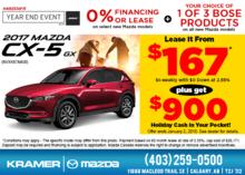 Save Big on the 2017 Mazda CX-5 GX! from Kramer Mazda