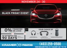 Kramer Mazda's Black Friday Event On Nov 24-30 from Kramer Mazda