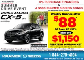 Save Big on the 2016.5 Mazda CX-5 GX! from Kramer Mazda