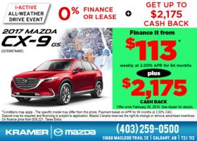 Get the 2017 Mazda CX-9 GS Today! from Kramer Mazda