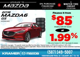 Get the 2018 Mazda6 GS at Kramer Mazda! from Kramer Mazda