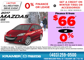 Get the 2017 Mazda5 GS now! from Kramer Mazda