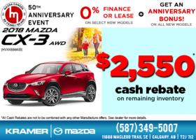 Get the 2018 Mazda CX-3 AWD now! from Kramer Mazda