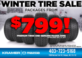 Winter Tire Sale on Now! from Kramer Mazda
