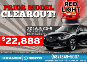 Prior Model Clearout with Red Light Pricing! from Kramer Mazda