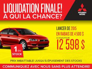 Dernier Mitsubishi Lancer 2015 en inventaire