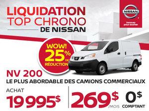 Liquidation top chrono NV200 2017