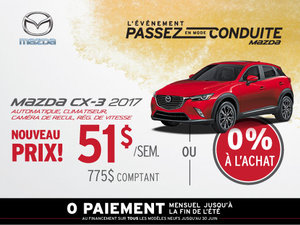 Louez la Mazda CX-3 2017