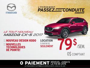 Louez la Mazda CX-5 2017