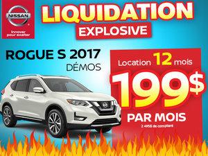 Méga liquidation démos Rogue 2017