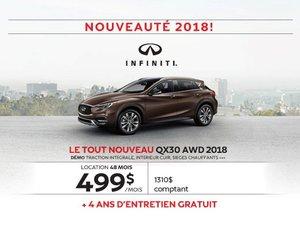 Le tout nouveau QX30 AWD 2018