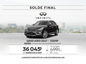 Dernier appel...Solde sur le QX50 AWD 2017