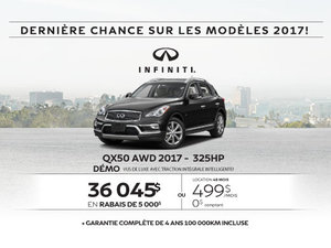 L'Infiniti QX50 2017 démo en rabais