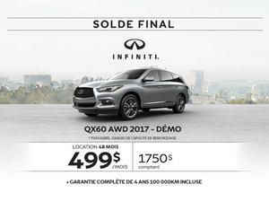 Dernier appel...Solde sur le QX60 AWD 2017