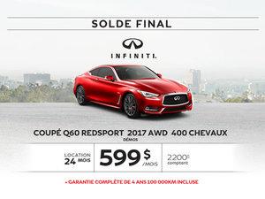 Coupé Q60 dernier appel … pour le solde 2017!