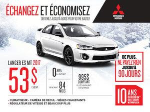 Mitsubishi Lancer 2017 échangez et économisez
