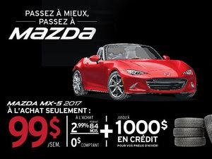 Obtenez la Mazda MX-5 2017