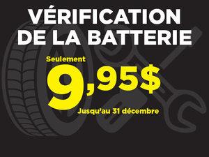 Vérification de la batterie