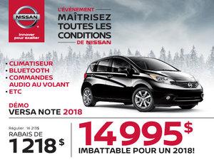 Nissan Versa Note 2018 démos