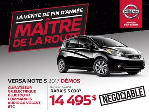 Nissan Versa Note S 2017 démos en rabais