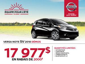 Nissan Versa Note SV 2018 en rabais