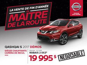 Nissan Qashqai S 2017 démos en rabais