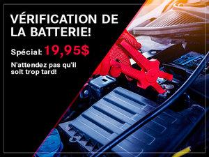 Vérification de la batterie!