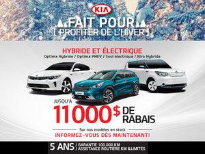 Fait pour profiter de l'hiver - véhicules hybrides