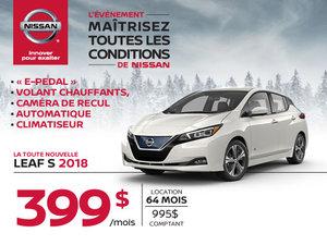 La Nissan LEAF 2018 EST ARRIVÉE!!!
