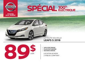 La toute nouvelle LEAF S 2018 100% électrique