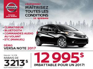 Nissan Versa Note 2017 démos