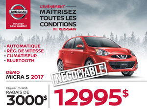 Nissan Micra S 2017 démos