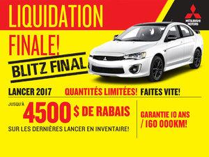 LIQUIDATION FINALE LANCER 2017