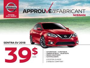 Nissan Sentra SV 2018 démos
