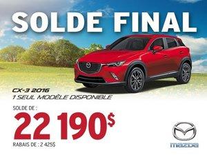SOLDE FINAL - Mazda CX-3 2016