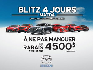 Blitz 4 jours Mazda