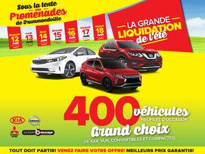 LA GRANDE LIQUIDATION DE L'ÉTÉ SOUS LA TENTE GÉANTE AUX PROMENADES DRUMMONDVILLE !
