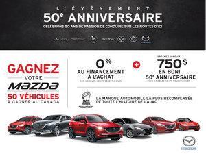 L'événement 50e anniversaire Mazda est en cours!